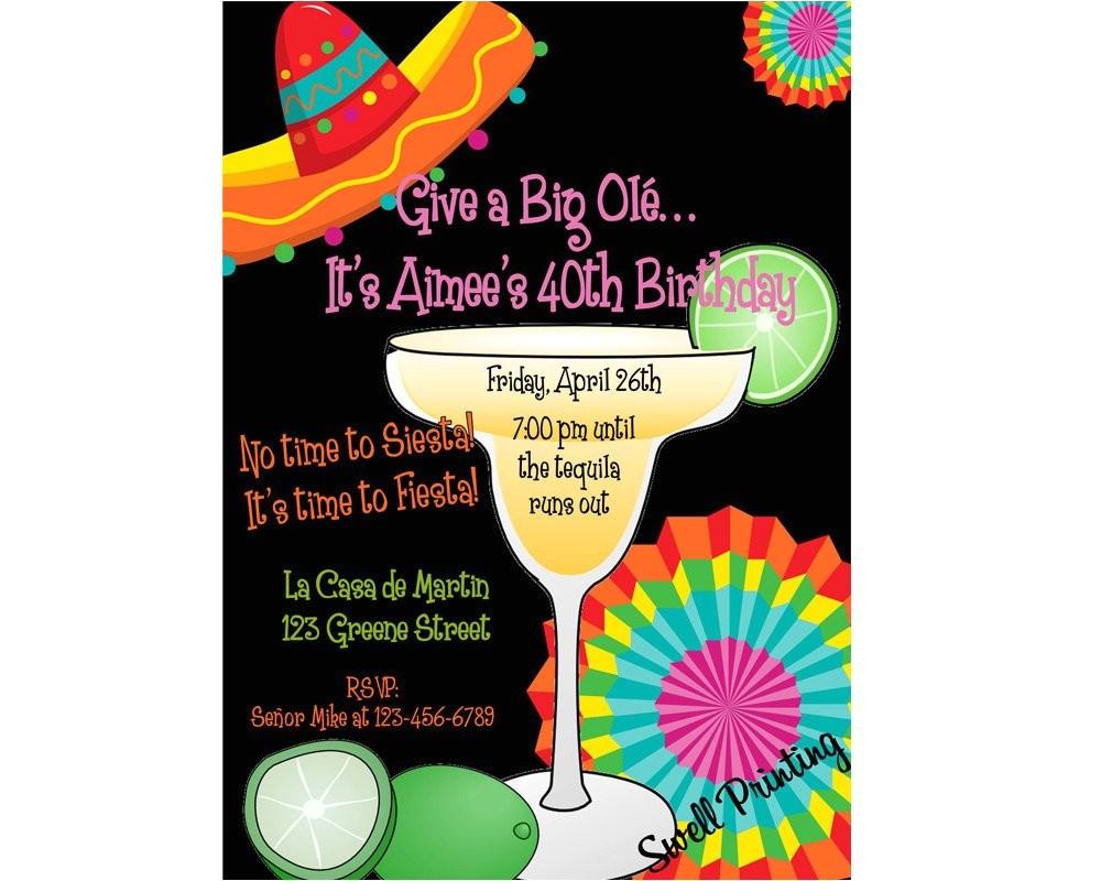 fiesta birthday party margarita party