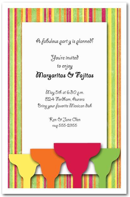 margaritas on bright stripes