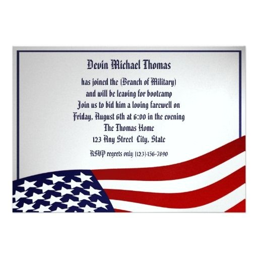 military going away invitations