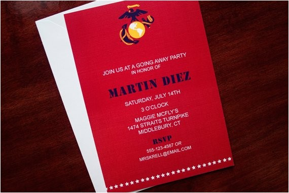 marines invitation or announcement
