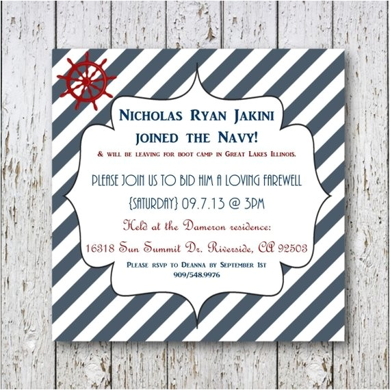 navy going away invitation