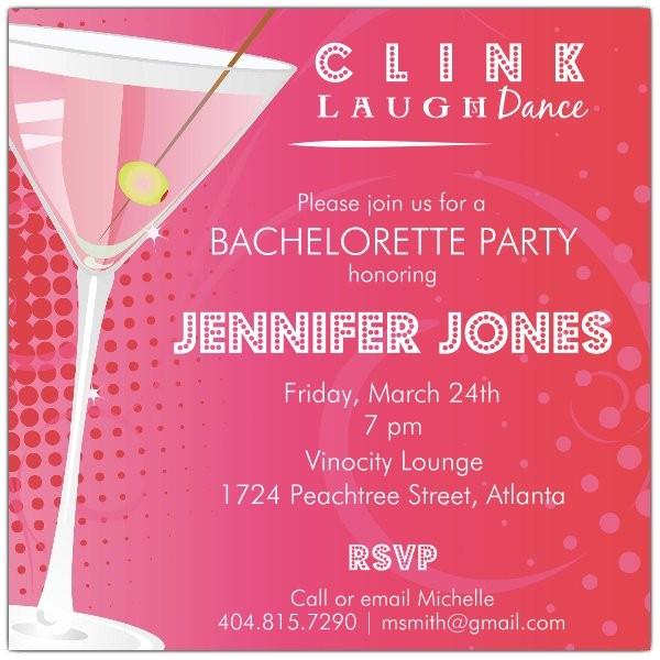 dots martini bachelorette party invitations p 615 55 034
