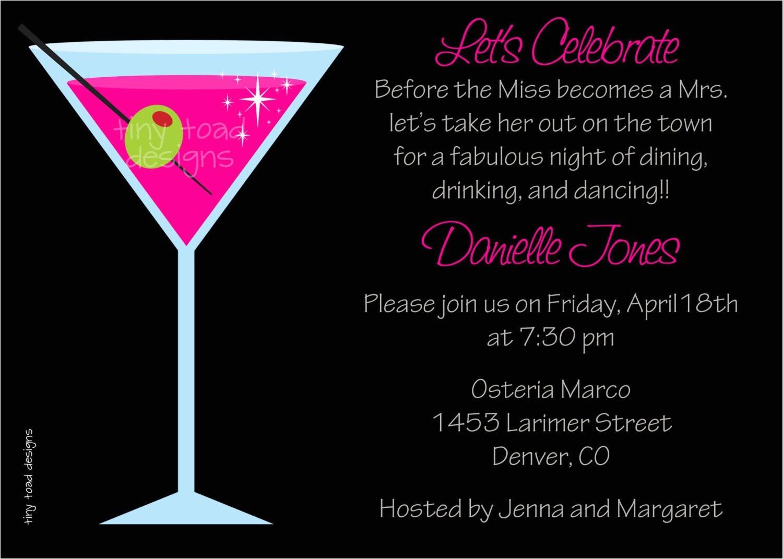 fabulous night pink martini bachelorette