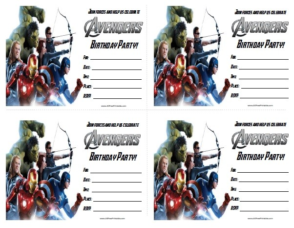 the avengers birthday party invitations