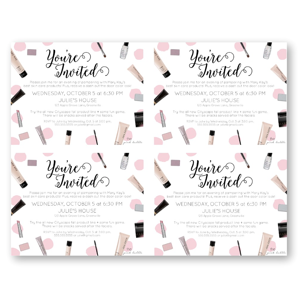 mary kay party invitations and fetching invitations fitting aimed at giving pleasure to your party invitation templates 15