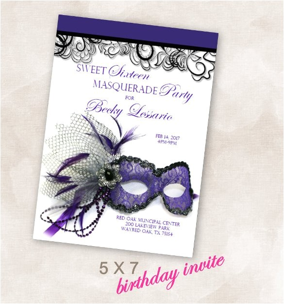 masquerade invitation template