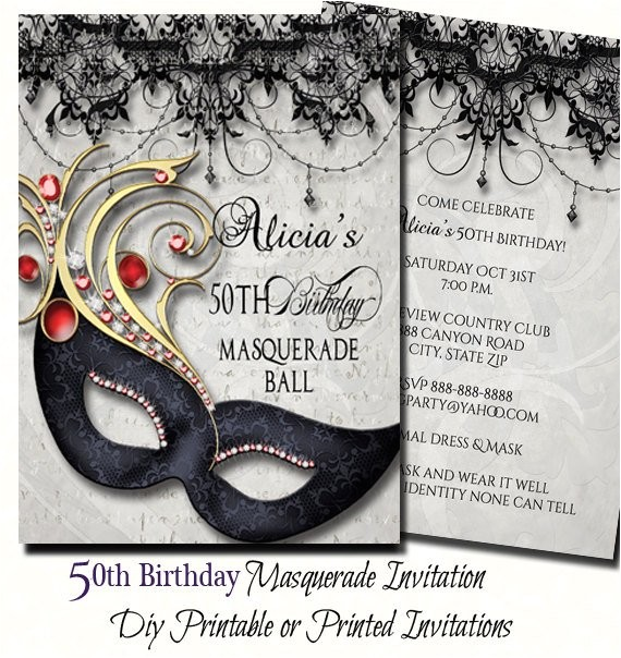 50th birthday masquerade party