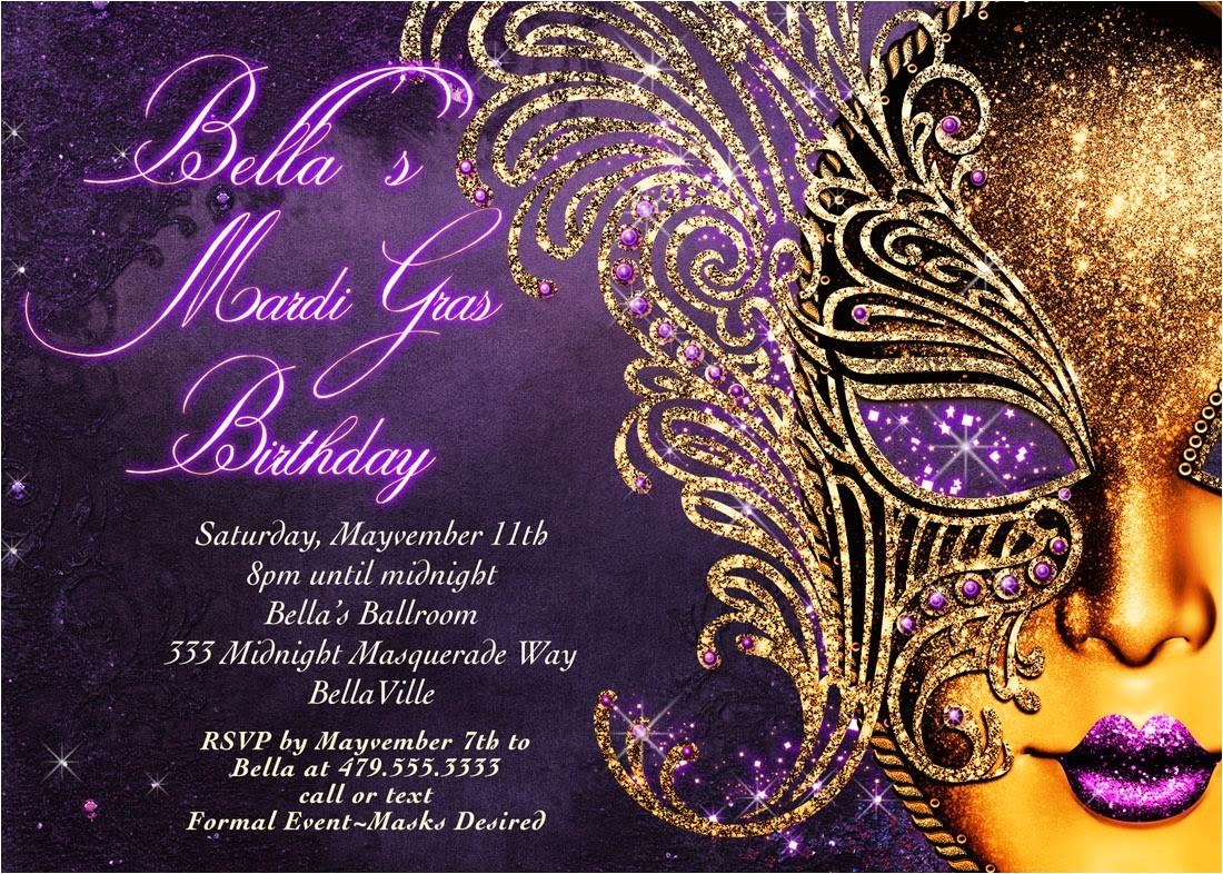 masquerade party invitations templates