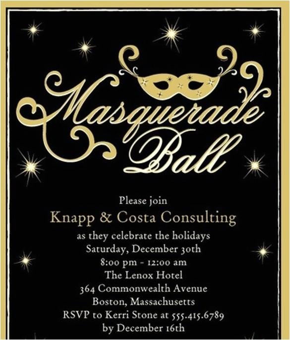 masquerade wedding invitations template