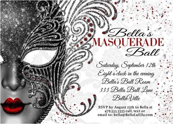 masquerade party masquerade invitation