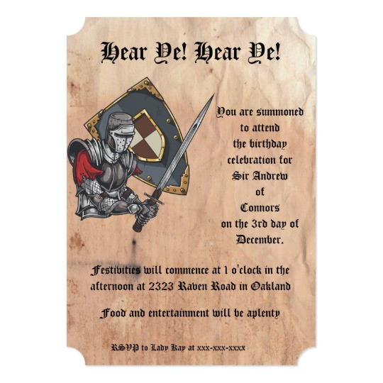 medieval knight with sword and shield birthday card 256106687114177511