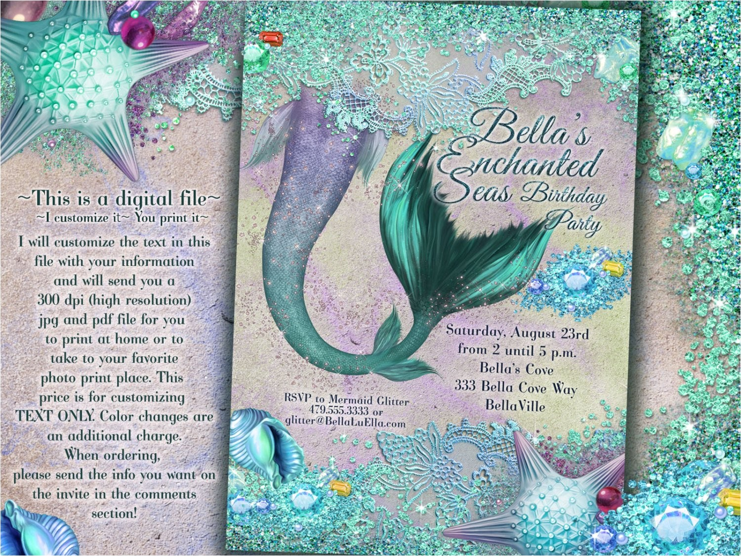 mermaid mermaid invitations mermaid