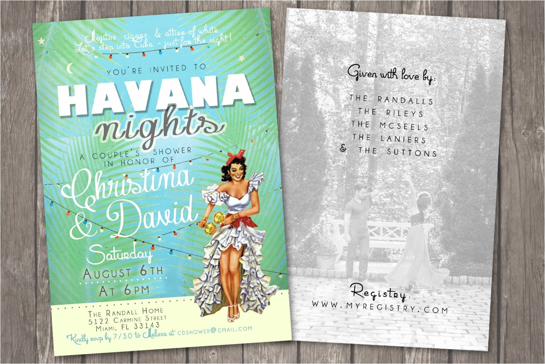 havana nights shower invitation cuban