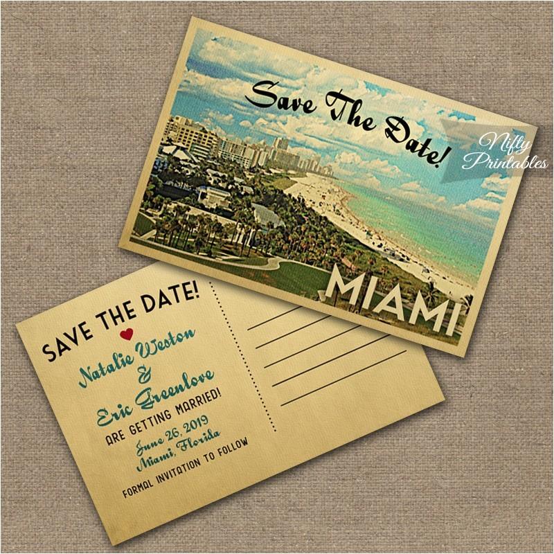 miami florida wedding invitations