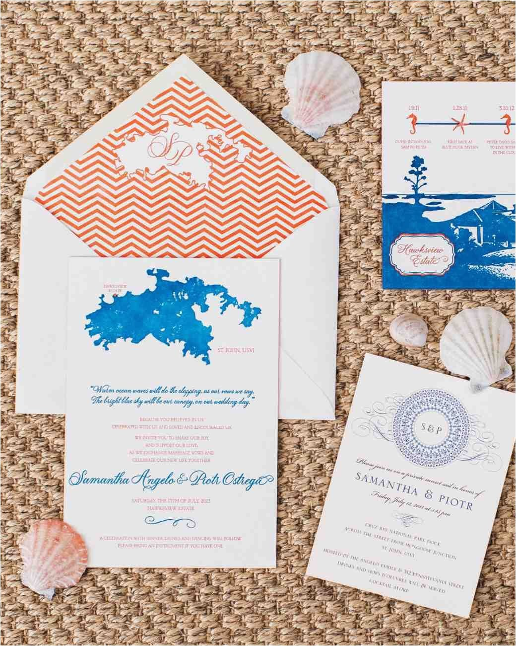 beach themed wedding invitation kits 2