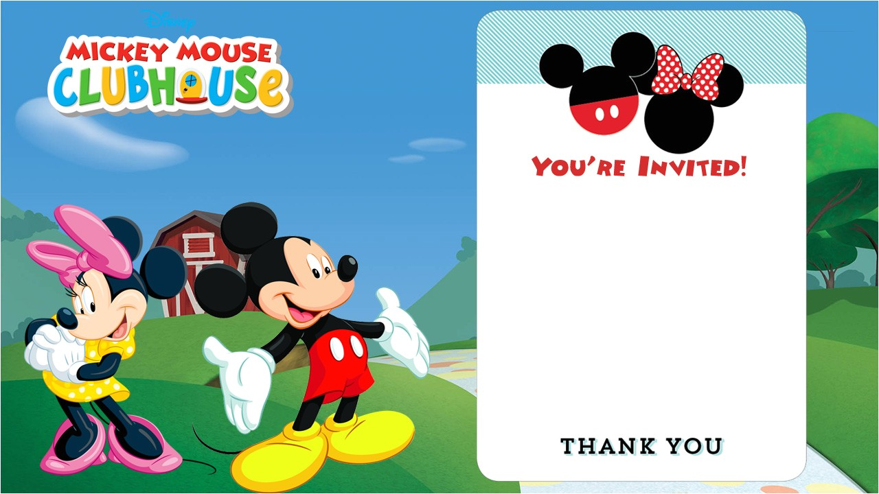 mickey mouse clubhouse invitation free template