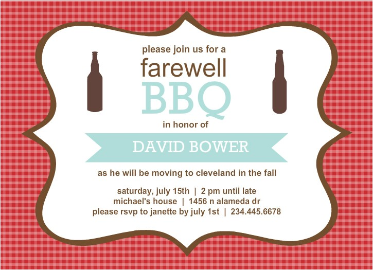 going away invitations template