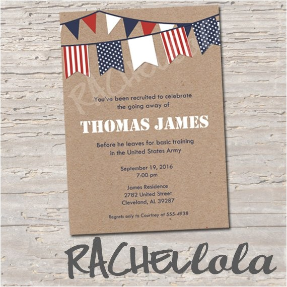 military going away party invitation printable
