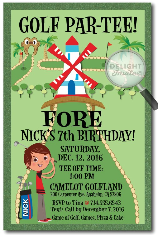 mini golf birthday invitations p 2812