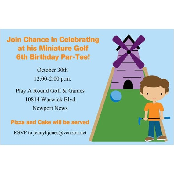 miniature golf golfing birthday party