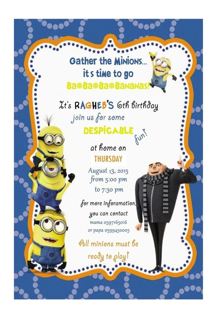 how to create minion birthday party invitations designs ideas