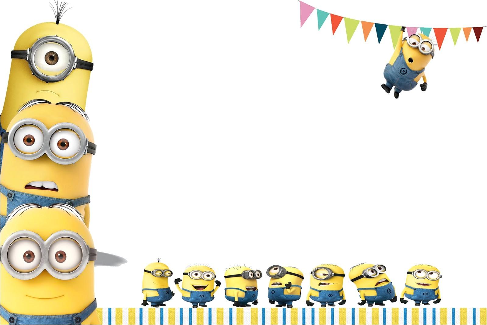 birthday invitation template minions