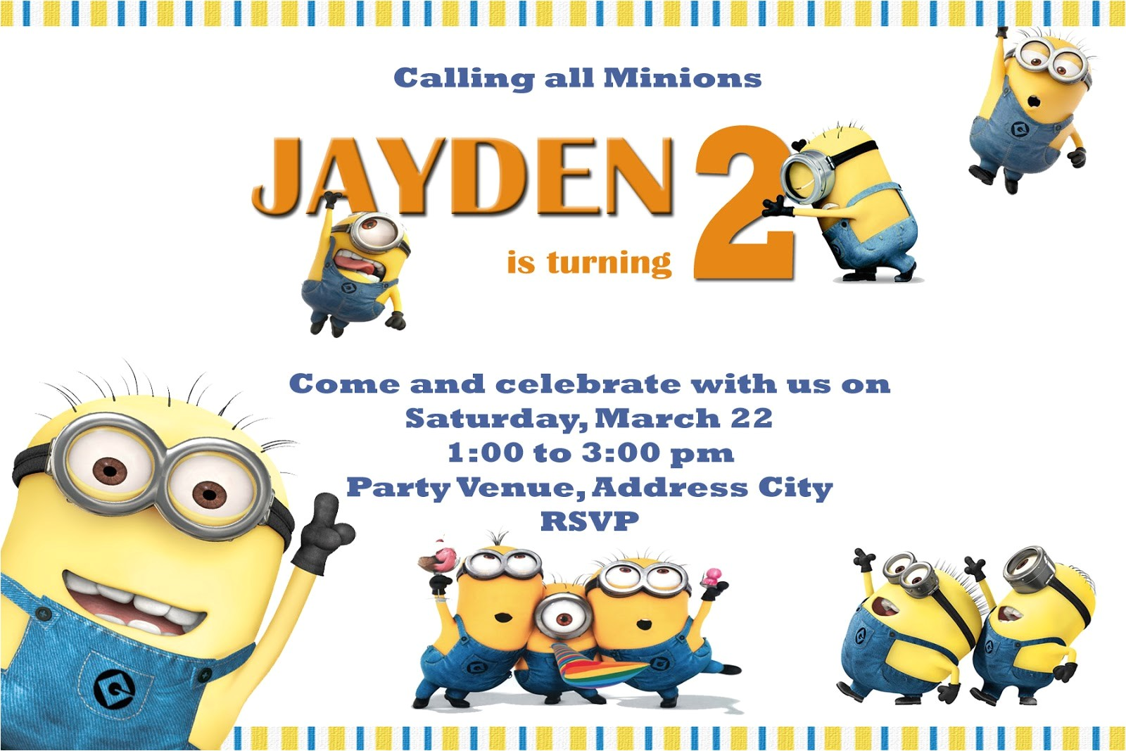 minions party invites
