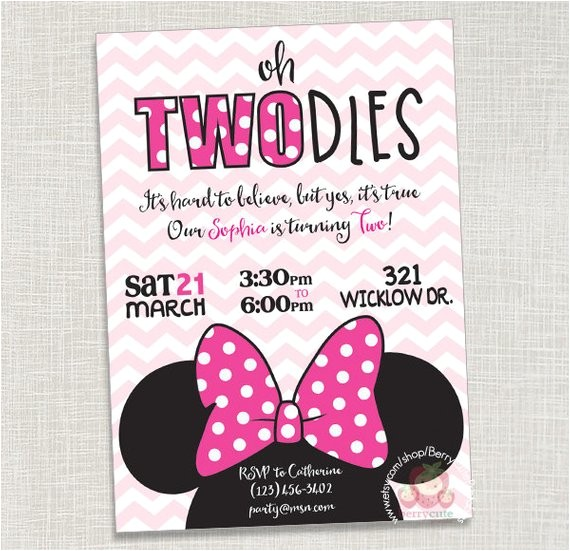 minnie mouse birthday invitation two utm source pinterest amp utm medium pagetools amp utm campaign share