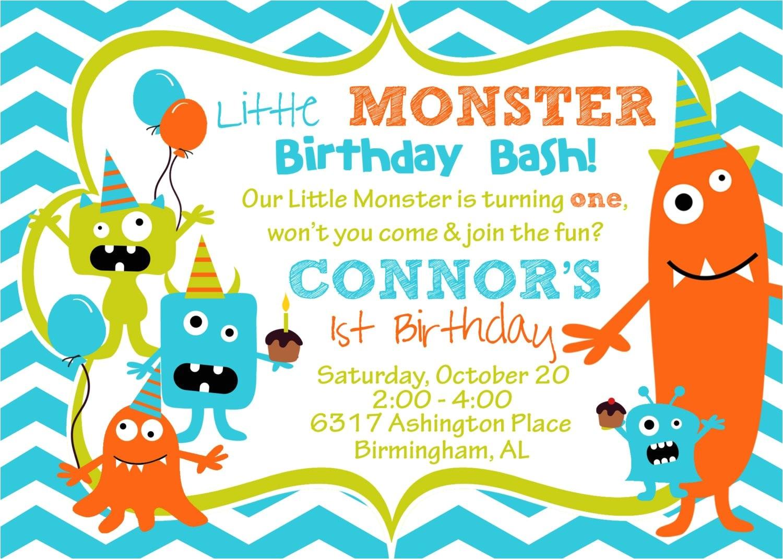 cupcake monster bash birthday party