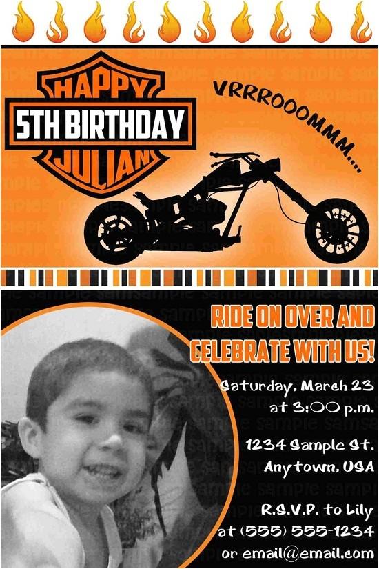 motorcycle birthday invitations