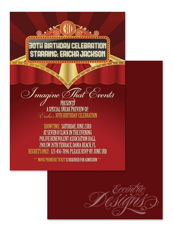 adult partycelebration invitation designs