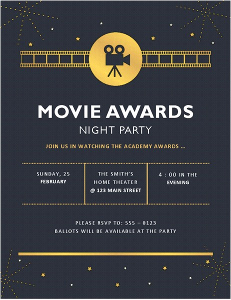movie awards party invitation inspirational movie premiere party invitations