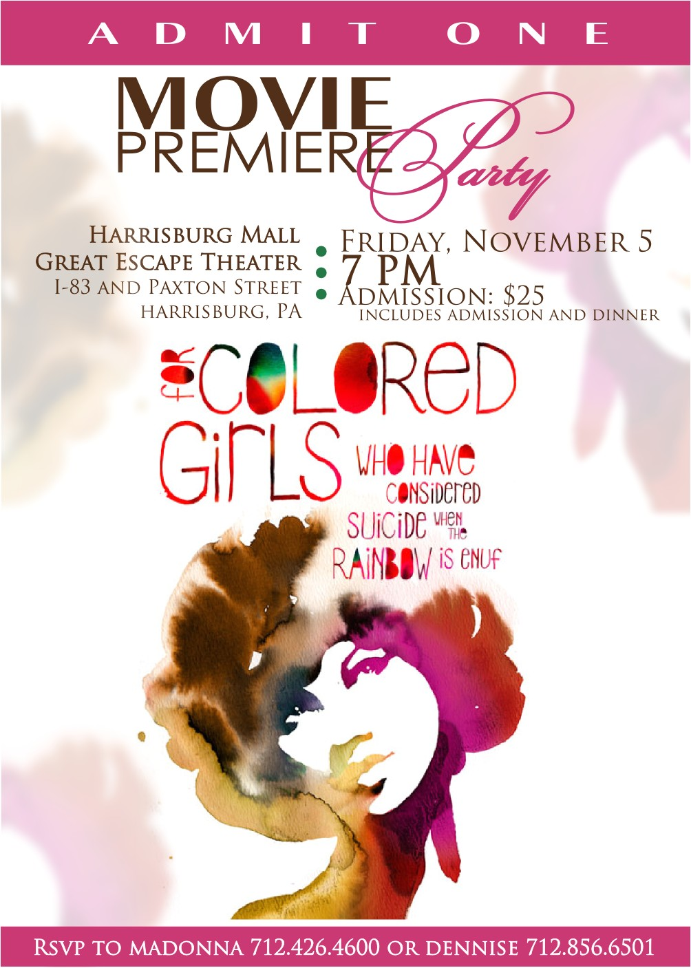 Movie Premiere Party Invitations Signatures by Sarah Movie Premiere Party Invitation for