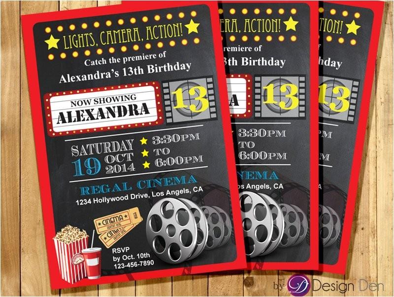 custom movie cinema theater birthday