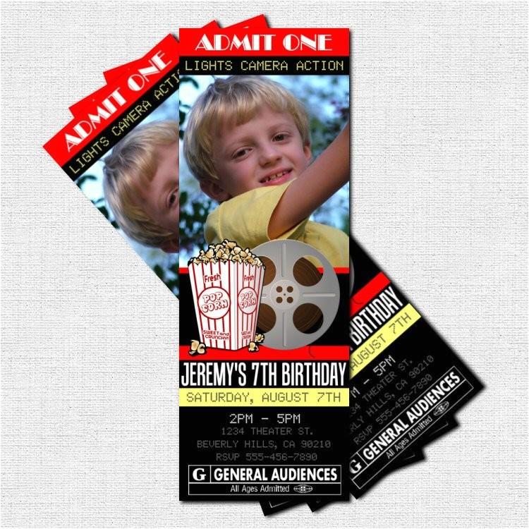 movie ticket invitations theater