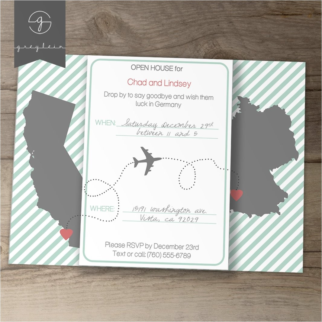 moving going away party invitations