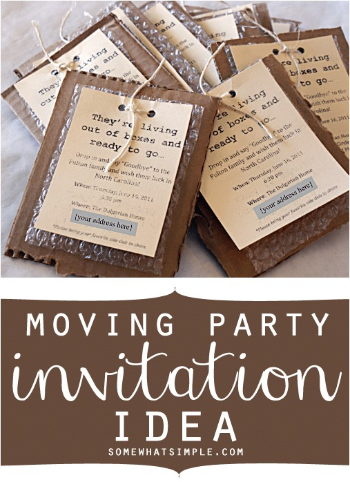 moving party invitations gift idea