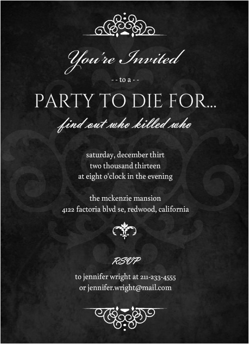 murder mystery bridal shower ideas