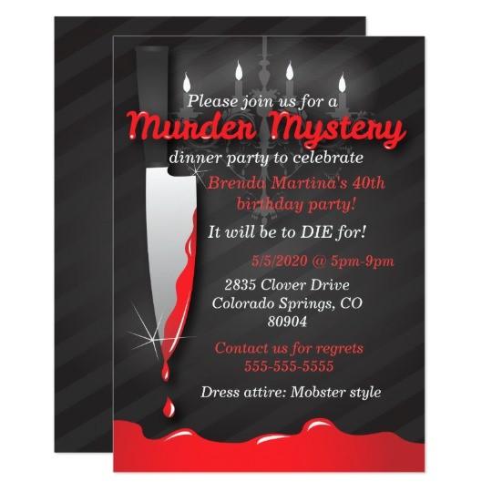 murder mystery dinner invitation 256730881307638329