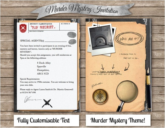 diy murder mystery invitation