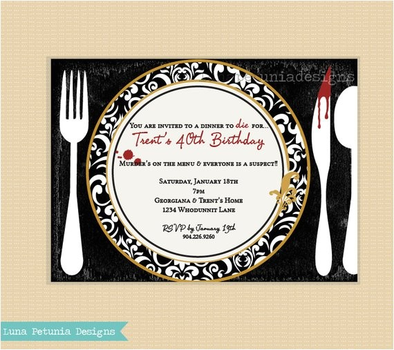 Murder Mystery Dinner Sheet Free: Murder Mystery Party Invitations Free Printable
