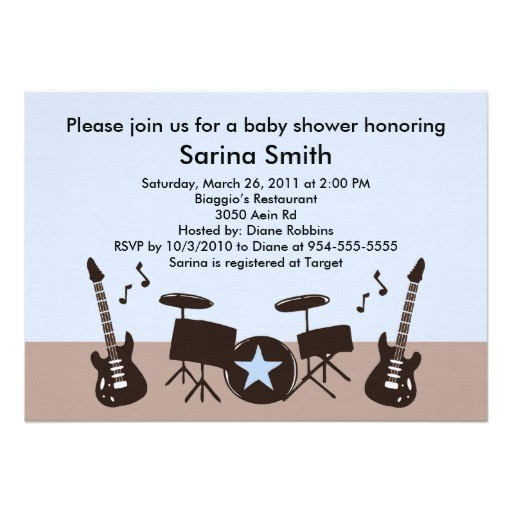 musical theme baby shower ideas