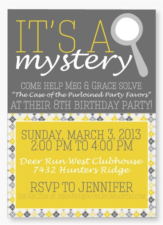 Nancy Drew Party Invitations Nancy Drew Party Printable Invitation by Love the Day