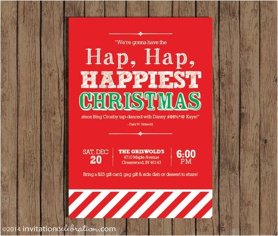 christmas vacation party invitation clark griswold