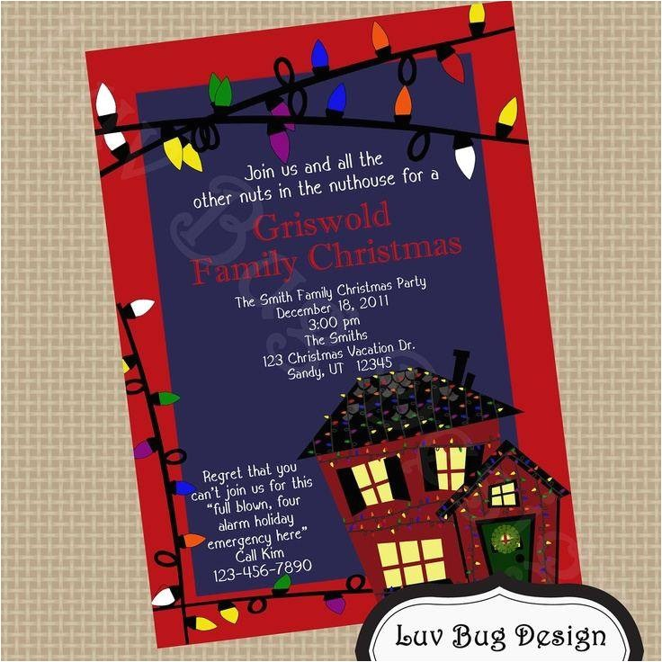 christmas vacation party invitations