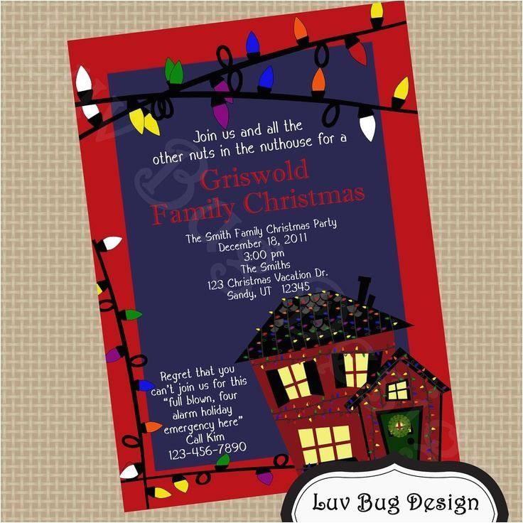 christmas vacation party invitations