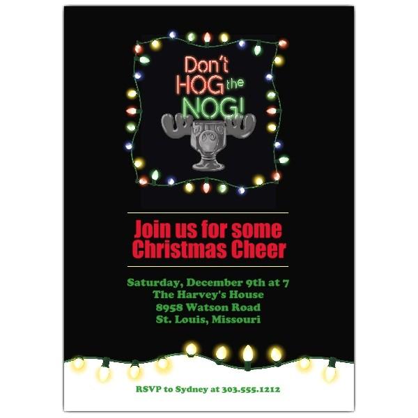 hog the nog christmas invitations p 804 57 001