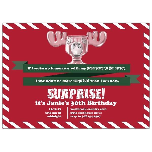 surprised moose mug christmas vacation invitations p 804 75 002