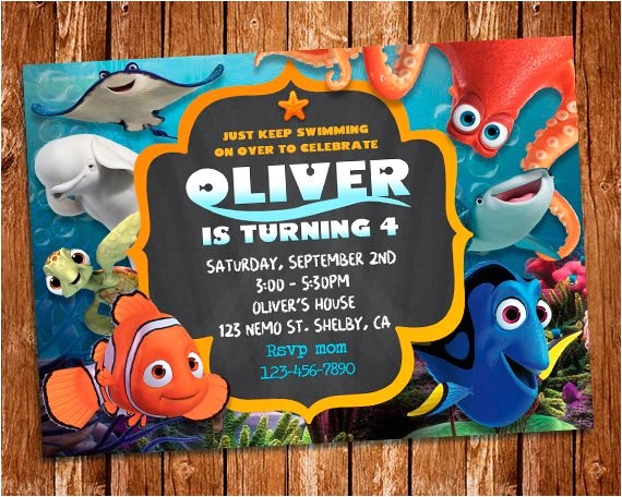 finding dory invitation finding dory