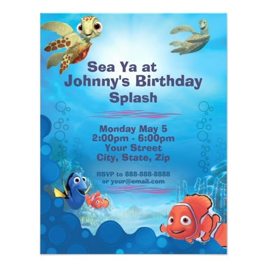 finding nemo birthday invitation 161324038643044736